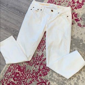 J Crew Matchstick Crop White Denim Size 27